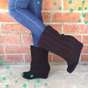 Steve Madden 'Aspenn' sweater wedge boots size 9.5